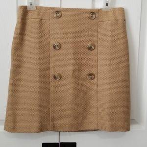 Loft mini front buttons skirt